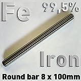 Rundstab aus reinem Titan 100 x ⌀8 mm Metall Rundstange