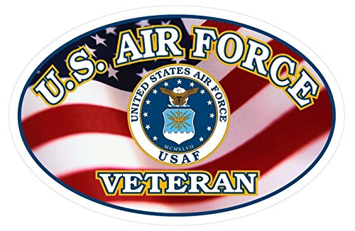 1 Set Amazing Unique United States U.S. Air Force Veteran USAF Flag Stickers Sign Wall Bumper Vinyl Car Decor Trucks Window Decal Bike Patches Decals Graphics Racing Mac Truck Cars - Dealers Obx