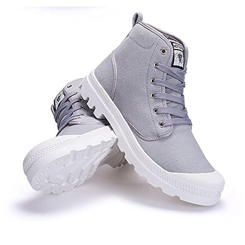 uomo e EU fino taglia alla Outsole High Top 2018 Shoes Sneaker Grigio 47EU Estate donna Autunno 45 Dimensione antiscivolo Color Canvas moda Large Size Stringate qXSxICFIw