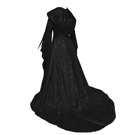 CAGYMJ Dress Party Mujer Vestido,Cosplay Encapuchado Color Sólido ...