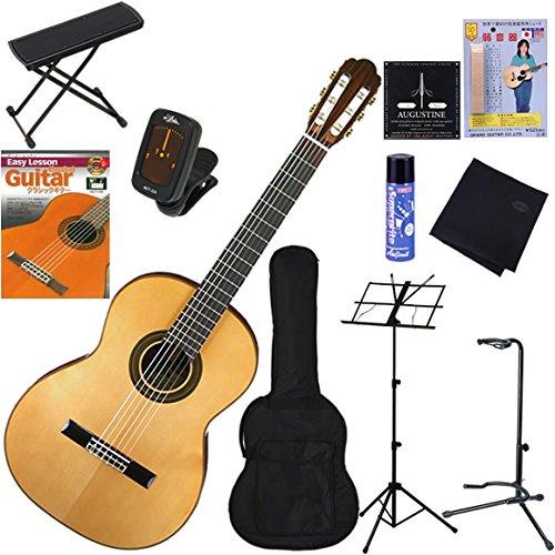 Aria クラシックギター 初心者 入門 トップ単板(松)モデル 完璧11点セット A-50S   B005F7SMQM