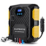 Air Compressor, AUPERTO 150 PSI Portable Tire Inflator Electric Pump Digital Display DV 12 Volt with LED Light