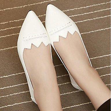 US6.5-7   EU37   UK4,5-5   CN37 Wuyulunbi@ Chaussures femmes de confort Appartements Printemps Pu talon plat pour un Rouge Blanc rouge