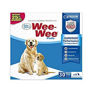 Wee-Wee Puppy Training Pee Pads 30-Count 22″ x 23″ Standard Size Pads for Dogs