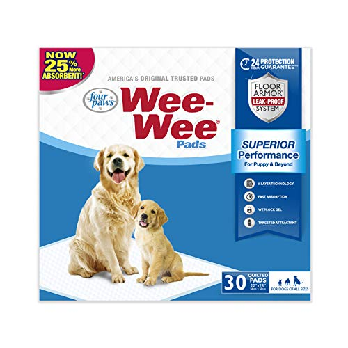 Wee-Wee Standard Size Puppy Pads for Dogs, 30 Count