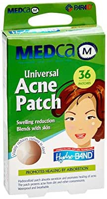 MEDca Universal Acne Pimple Patch Absorbing Cover 36 Count Two Sizes