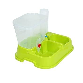 UEETEK Alimentador Automático Dispensador de agua para Gatos Perros Mascotas (verde)