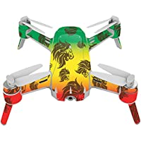 Skin For Yuneec Breeze 4K Drone – Rasta Lion | MightySkins Protective, Durable, and Unique Vinyl Decal wrap cover | Easy To Apply, Remove, and Change Styles | Made in the USA