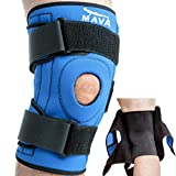 Mava Knee Brace for Joint Pain & Arthritis Relief – Meniscus, ACL, Tendonitis Support - Open Patella Stabilizer with Compression Knee Sleeve & Adjustable Strapping (Blue, Medium)