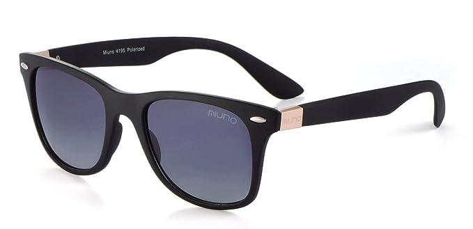 Sonnenbrille Nerd Brille Wayfarer Schwarz Polarisiert Farbe Silber IM9jsAnYTb