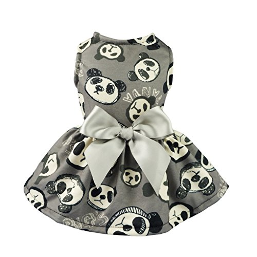 Fitwarm Adorable Panda Pet Dress for Dog Clothes Vest Shirts Cat Apparel, Black 51NxUb8H3nL