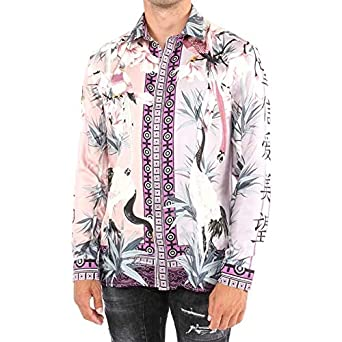 0fbb9b85fe7 Versace Collection - Chemise Casual - Homme Rosa+Stampa 40  Amazon ...