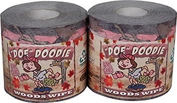 Amazon.com: Doe Doodie Pink Camo Toilet Paper 2pk by Rivers Edge ...