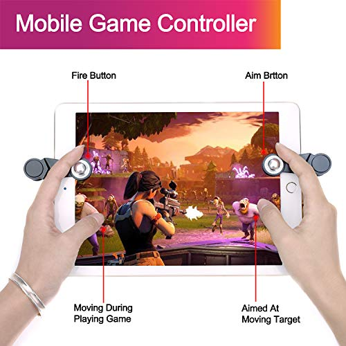 [2 Triggers] PUBG Fortnite Tablet Game Controller - GTOTd Ipad Game Accessories,Slates Game Trigger,L1R1 Sensitive Shoot and Aim,Gift for Kids and Player [New Version] (Black) by GTOTd (Image #3)