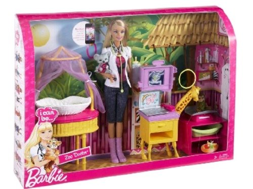 Barbie can Zoo Doctor Playset