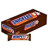 SNICKERS Chocolate Bars are a delicious and unique candy that friends, family and party guests will love. Bring them to the office, use them in gift baskets or keep them on hand to pack in your lunch. With milk chocolate, nuts, caramel and no...