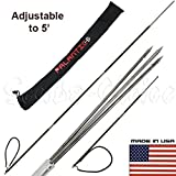 Scuba Choice Carbon Fiber 7' Travel Spearfishing Pole Spear 3 Prong Barb Paralyzer Tip Adjustable to 5' with Bag (3-Piece)