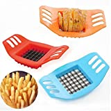Lautechco® Stainless Steel Vegetable Potato Slicer Cutter Chopper Chips Making Tool Potato Cutting Device Fries Tool Cooking Tools (Random Color)