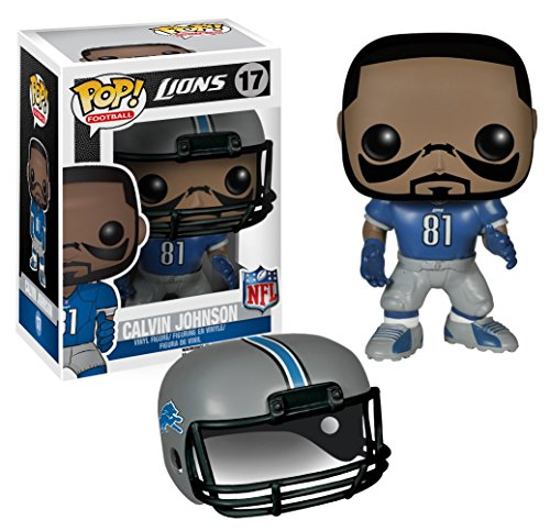 Calvin Johnson - Lions: Funko POP! x NFL Vinyl Figure + 1 FREE Official NFL Trading Card Bundle [46385]