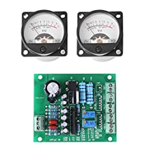 2Pcs VU Panel Meter With Warm Back Light And Audio Level Amp With Driver