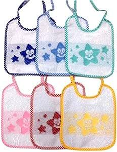 Panini tejidos babero babero estrella Rizo 100% algodón -6 Colores ...