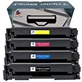 Triple Best Set of 4 Remanufactured 202X Toner Cartridge for HP 202X CF500X CF501X CF502X CF503X Toner Cartridge used with HP Color LaserJet Pro M254dw M254nw MFP M281fdw M280nw M281cdw M281fdn