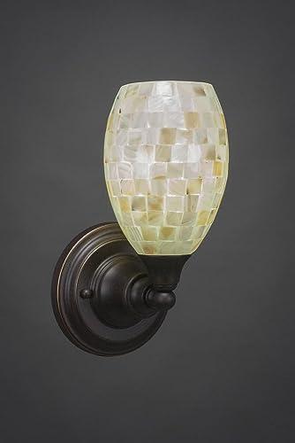 Amazon.com: 1 luz lámpara de pared con tulipa de vidrio ...
