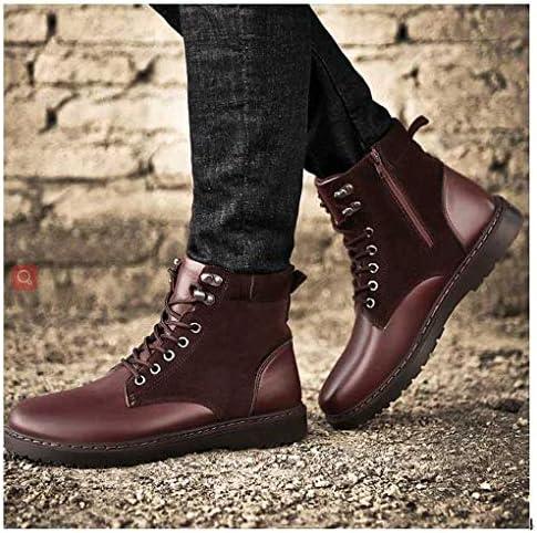 メンズバックパッキングブーツ メンズブーツ ファッションマーチンブーツ スノーブーツ アウトドアカジュアルレザーブーツ 秋冬靴