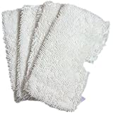 Aiskaer 4pcs White Replacement Steam Mop Pad Microfiber Pads for Shark S3500 series, S3601/ S3550/S3901,Household Microfiber Dust Pads Cleaning Pad (Style-A)