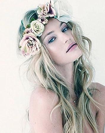 Bandeaux pour cheveux pour femme, beauté, bohême, mariage, couronne de fleurs, diadème, bord de mer, plage, vacances, de Aukmla beauté bohême diadème