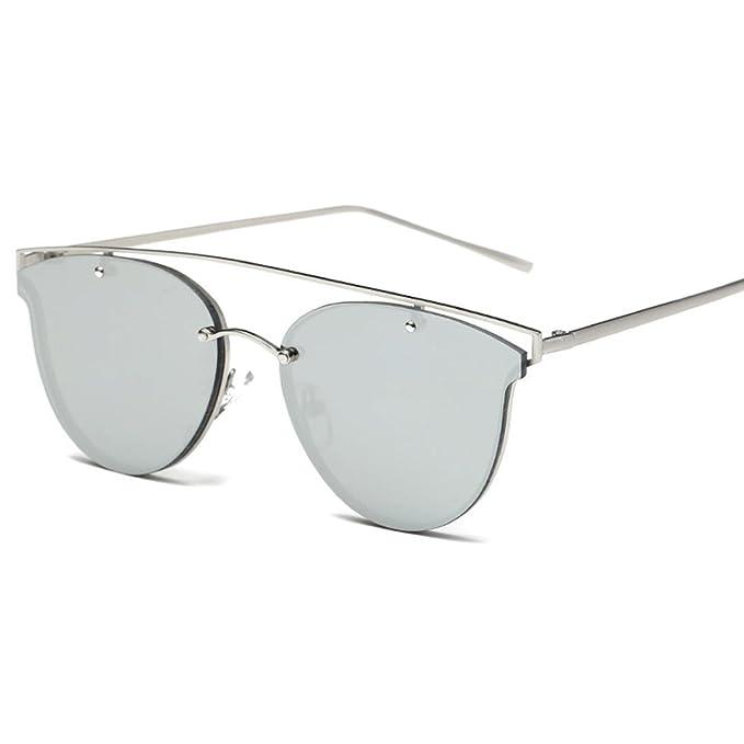 Culater® Occhiali da sole donne del gatto di modo struttura del metallo degli occhiali da sole di marca Classic Tone Specchio (Giallo) UQF7l4EYG