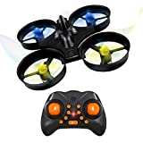 Flytec S105 Mini Quadcopter Drone 2.4G 4CH 6 Axis Headless Mode Remote Control UFO Nano Quadcopter RC Toy RTF Mode 2 (Black)