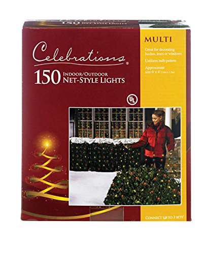 - Celebration 150 Indoor/Outdoor Net-Style Lights, Multi-Color