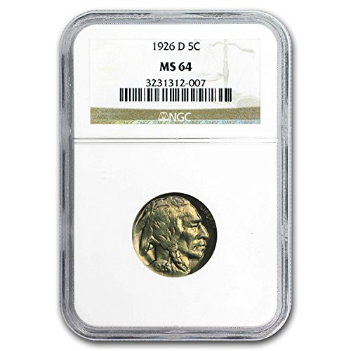 1926 D Buffalo Nickel MS-64 NGC Nickel MS-64 NGC