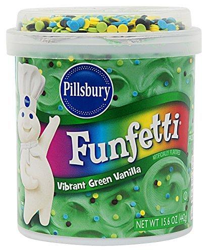 Pillsbury Funfetti Happy Birthday! Vibrant Green Vanilla Frosting 15.6 oz