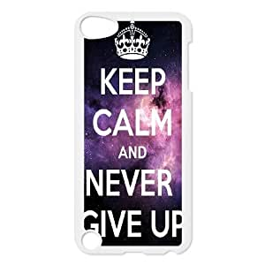 Personalized Unique Design Case for Ipod Touch 5, Never Give Up Cover Case - HL-526058