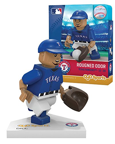 (Oyo Sportstoys MLB Texas Rangers Rougned Odor Generation 5 Minifigure, Small, Black)