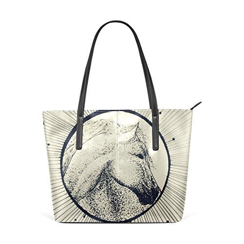 Shoulder Horse Women's Handbags Tote Bags Satchel Large Purse Handle Bennigiry Top 5qTdxw001