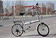 "IDS Online 20"" unYOU U Transformer Folding Compact Bike 6 Speed Shimano, Semi-Alloy Front and Rear V-Brake, Ci"