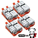 YoYoInk 8 Pack Compatible Ink Cartridges Replacement for PGI-35 & CLI-36 (4 Black, 4 Color)