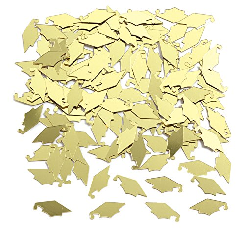 Creative Converting Graduation Caps Confetti, Yellow -