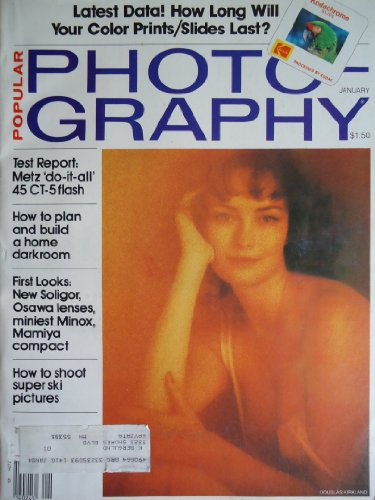 Popular Photography Magazine (January 1982 - Douglas Kirkland: Nude Photo Cover, Volume 89 / Number 1)