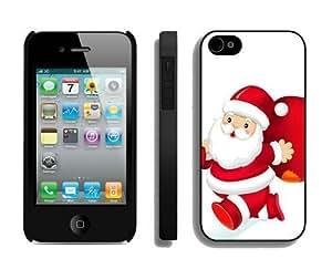 Customized Portfolio Santa Claus iPhone 4 4S Case 22 Black