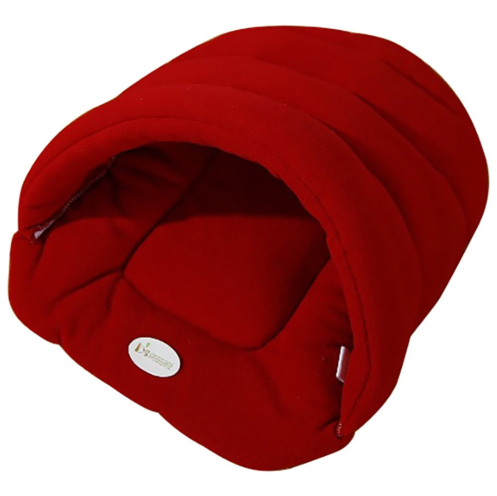 Joycentre Cat Puppy Cozy Sleeping Bag Pet Cave Half Covered Slipper Shape Windproof Pet Beds Snuggle Sack Soft Dog Blanket Mat (XL(68×58CM), Coffee)