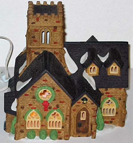 Dickens Village Collectibles - Dept 56 Lighted Knottinghill Church (#55824, Heritage Village Collection, Dickens Village Series), Retired Collectible