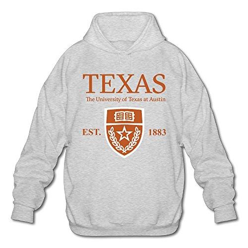 QTHOO Men's Long Sleeve University of Texas at Austin Established 1883 Lightweight Hoodie -