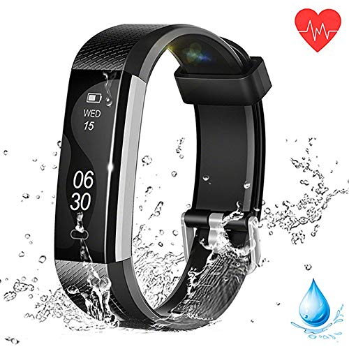 nwenliang Fitness Tracker HR, Activity Tracker Watch with Heart Rate Monitor, Waterproof Smart Fitness Band with Step Counter, Calorie Counter, Compatible with Android iOS Smartphone ()