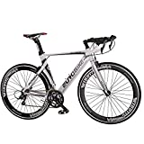 Eurobike Aluminium Road Bike 16 Speed Mens Bicycle 700C Wheels 54cm...
