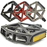 """Lumintrail PD-603B MTB/BMX Road Mountain Bike Bicycle Platform Pedals Flat Alloy 9/16"""" inch. Comes with our 100% Lifetime Guarantee"""