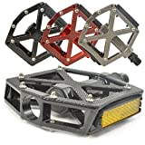 "Lumintrail PD-603B MTB BMX Road Mountain Bike Bicycle Platform Pedals Flat Alloy 9/16"" inch. Comes with our (Black)"